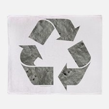 Recycling Sign Gray Throw Blanket