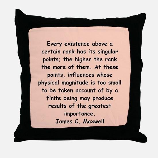 james c maxwell Throw Pillow