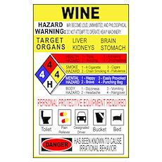 Wine Hazardous Material Poster
