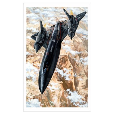 Air Force SR-71 Blackbird jet Poster