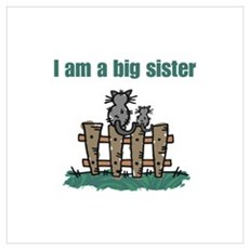 Fence Cats Big Sister Framed Print