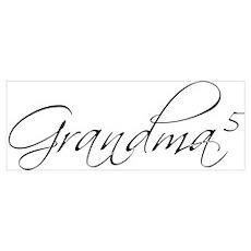 Grandma of 5 Poster