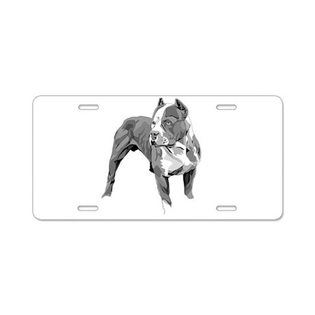 Pitbull greys Aluminum License Plate