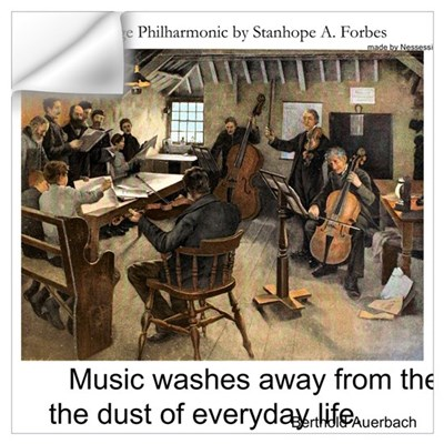 Village Philharmonic Wall Decal