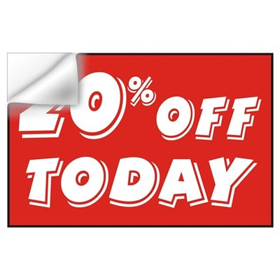 20% OFF TODAY Wall Decal