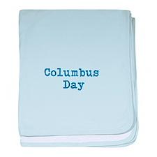Cute Columbus day baby blanket