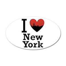 I love New York 22x14 Oval Wall Peel
