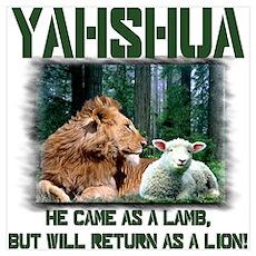 Yahshua, Lion & Lamb! Poster