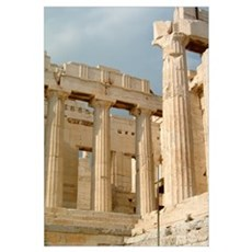 Greece Lg. - Acropolis (color) Framed Print