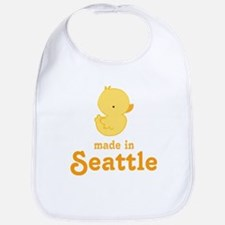 seattle WA ducky Baby Bib