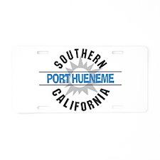Port Hueneme California Aluminum License Plate