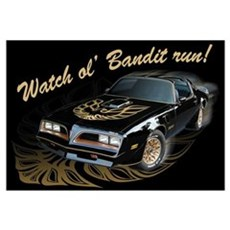 Watch ol' Bandit Run Framed Print