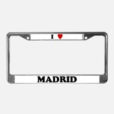 I Love Madrid License Plate Frame