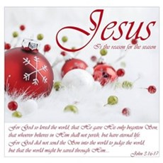 Jesus Is The Reason For The Season Wall Art Poster
