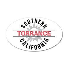 Torrance California 22x14 Oval Wall Peel