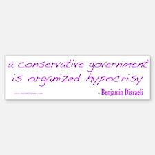 Organized Hypocrisy Bumper Bumper Sticker