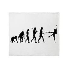 Evolution of Ballet Throw Blanket