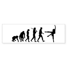 Evolution of Ballet Bumper Sticker