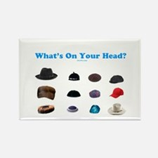 Jewish Headcoverings Rectangle Magnet