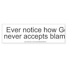 """""""God Blame"""" Bumper Sticker"""