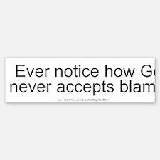 """""""God Blame"""" Sticker (Bumper)"""