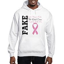 Yeah Fake Breast Cancer Hoodie