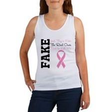 Yeah Fake Breast Cancer Women's Tank Top