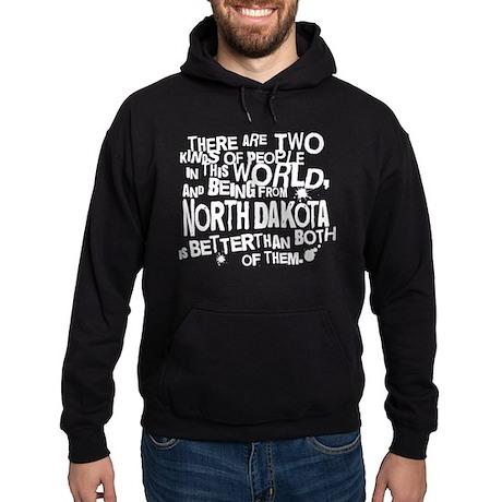 North Dakota (Funny) Gift Hoodie (dark)