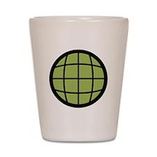 Captain Planet Globe Logo Shot Glass