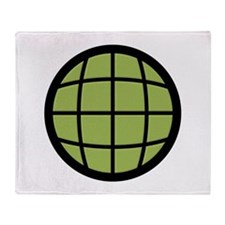Captain Planet Globe Logo Throw Blanket