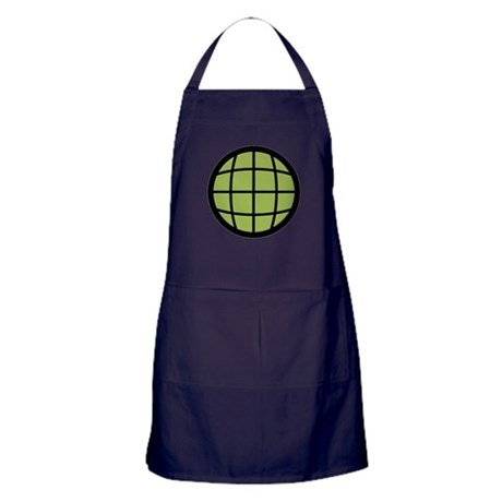 Captain Planet Globe Logo Apron (dark)