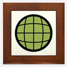 Captain Planet Globe Logo Framed Tile