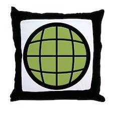 Captain Planet Globe Logo Throw Pillow