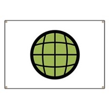 Captain Planet Globe Logo Banner