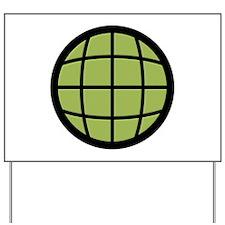 Captain Planet Globe Logo Yard Sign