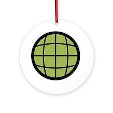 Captain Planet Globe Logo Ornament (Round)