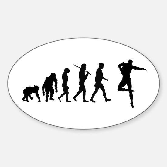 Male Dancer Sticker (oval)
