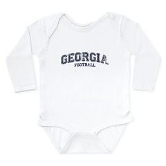 Georgia Football Long Sleeve Infant Bodysuit
