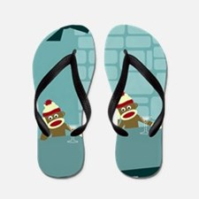 Sock Monkey Martini Bar Flip Flops