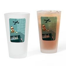 Sock Monkey Martini Bar Drinking Glass