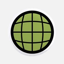 """Captain Planet Globe Logo 3.5"""" Button"""