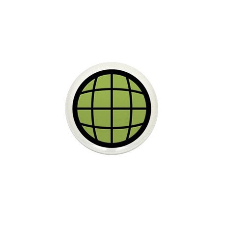 Captain Planet Globe Logo Mini Button (10 pack)