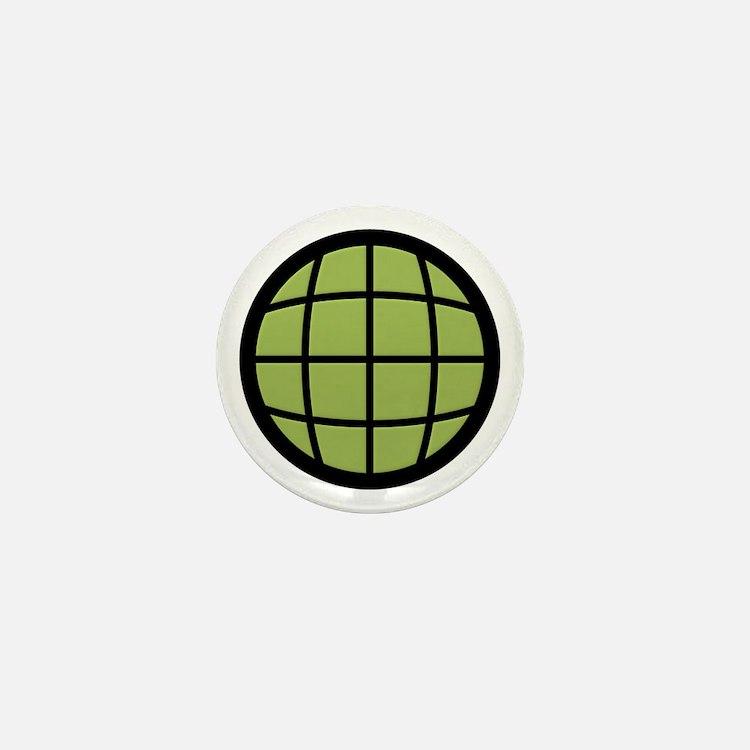 Captain Planet Globe Logo Mini Button