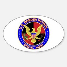US Border Patrol SpAgent Oval Decal