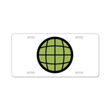 Captain Planet Globe Logo Aluminum License Plate