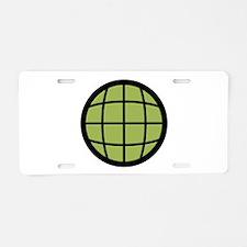 Captain Planet Globe Logo Aluminum License Plate