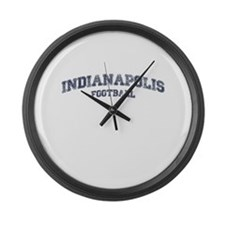 Indianapolis Football Large Wall Clock
