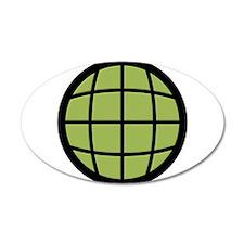 Captain Planet Globe Logo 38.5 x 24.5 Oval Wall Pe