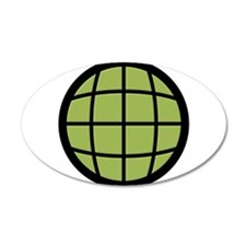 Captain Planet Globe Logo 22x14 Oval Wall Peel