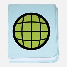 Captain Planet Globe Logo baby blanket